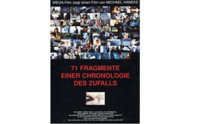 Actividad Cinefórum 28 febrero: «71 fragmentos de una cronología del azar»