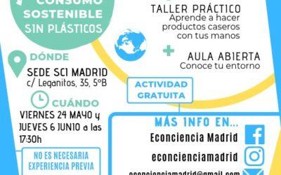 Talleres de consumo sostenible sin plásticos, 24 mayo & 6 junio