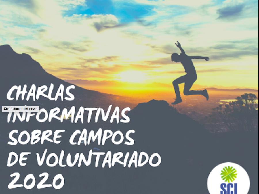 Charlas informativas sobre campos de voluntariado